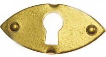 Klíčová dírka mosaz 2,5 x 1,2 cm