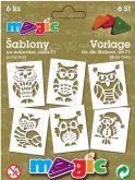 Papírové šablony sada SOVIČKY  11x14cm - 6ks