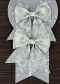 Dekorace MAŠLE bílá juta 12 x 14 cm - 2ks