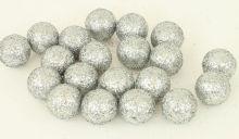 Dekorace zdobená glitry koule 1,5 cm - 6ks