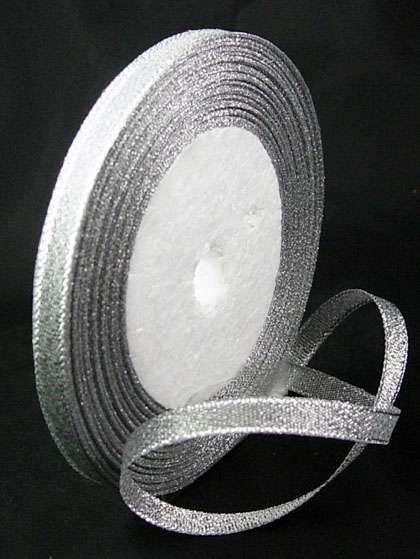 Stuha s lurexem 6 mm - 1m