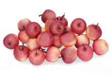 Dekorace jablíčka s glitry 3,5 x 3 cm - 1 ks