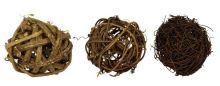 Dekorace přírodní KOULE hnědá 6cm MIX - 1ks