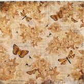 Rýžový papír 14g/m2 MOTÝL A VÁŽKA 50 x 50 cm