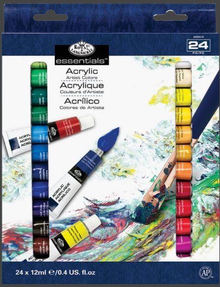 Sada akrylových barev Royal & LANGNICKEL 24 ks x 12 ml
