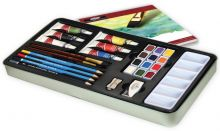 Sada akvarelová v plechovém boxu - 25 ks
