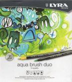 Umělecké fixy se štětečkem LYRA Aqua Brush Duo - 12 ks