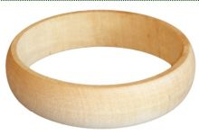 Dřevěný náramek zaoblený 2 cm