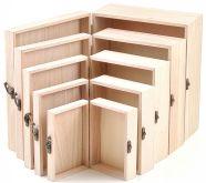 Dřevěná krabička  s kováním - 1ks