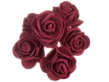 Dekorace pěnové RŮŽIČKY 3cm - 6 květů