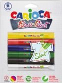 Barvy na textil základní 3D na blistru CARIOCA 10ml - 6ks