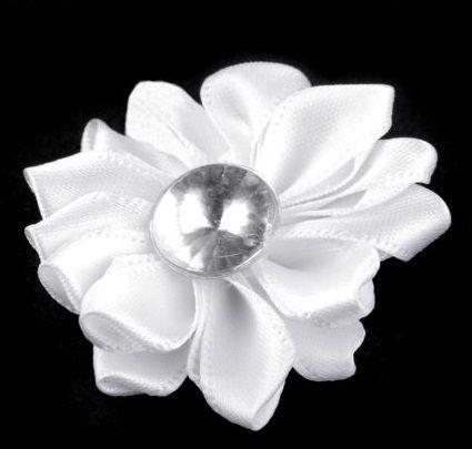 Dekorace květ Ø40mm s kamínkem -1ks