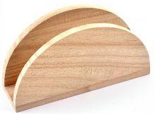 Stojánek dřevěný na ubrousky 14x4x8 cm