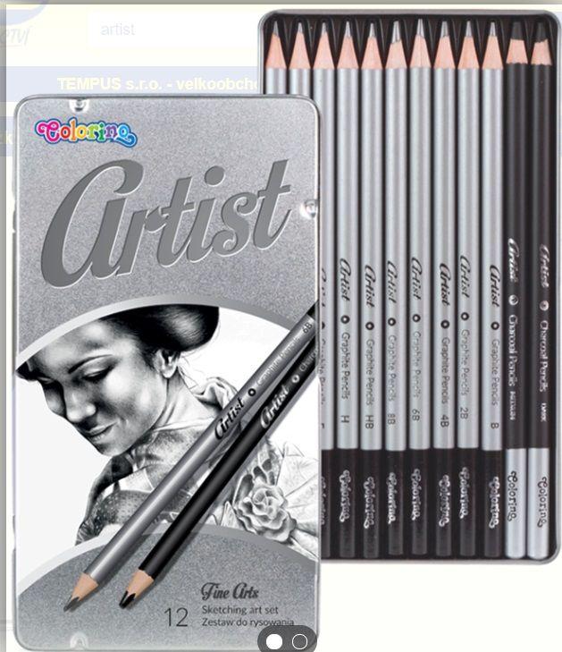 Umělecké tužky grafitové COLORINO - 12ks tempus