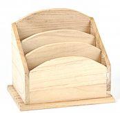 Dekorace dřevo  Zásobník s 3 přihrádkami 16x14,5x11cm