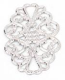 Dekorace filigránová Ornament 30x20mm - 1ks