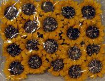 Dekorace květ z papíru SLUNEČNICE 4x12cm - 4ks