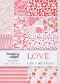 Kreativní papíry HAPPY COLORS 80g/m2 A4  love - 15listů