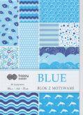 Kreativní papíry HAPPY COLORS 80g/m2 A4  modrý - 15listů