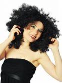 Paruka černé vlasy AFRO