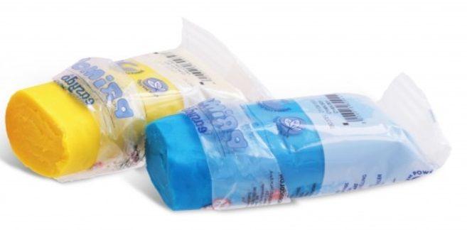 Plastelína /modelína/ PRIMO natur 100g - Modrá Morocolor