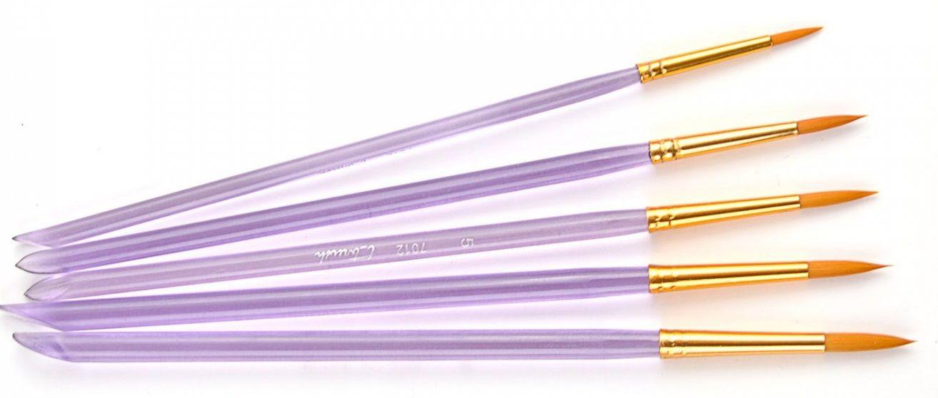 Sada kulatých syntetických štětců T Brush - 5ks pebeo
