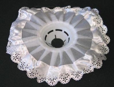 Manžeta na svatební kytici BÍLÁobvod 27cm