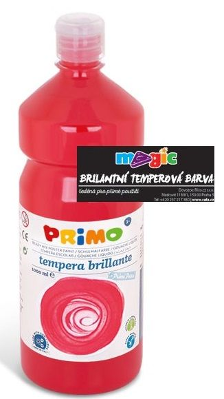 Temperová barva 1000ml - červená Morocolor