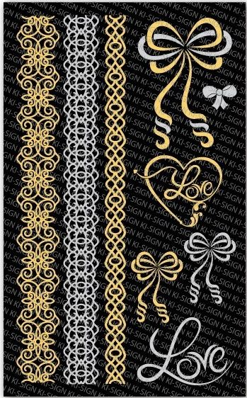 Tetovací obtisky ŘETÍZKY 9,5x15,5cm