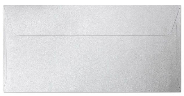 Obálka DLOUHÁ perleťová BÍLÁ 110x220mm