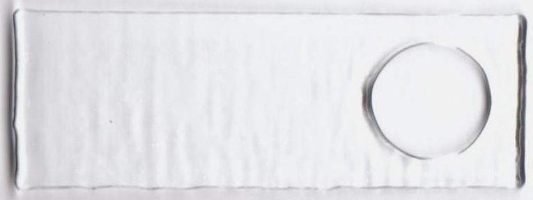 Sklíčko OBDÉLNÍK S DÍROU 50 x 30 mm