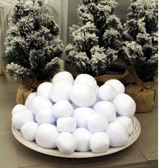 Sněhová koule vatová 5cm - 1ks