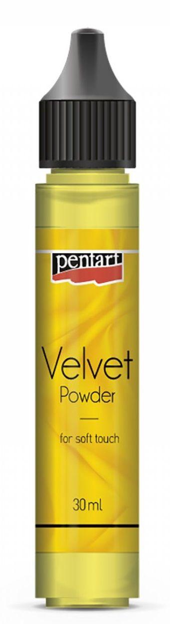 Sametový prášek PENTART 30ml - Citronová