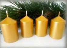 Svíčky adventní 40x60mm metal  - 1ks