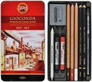 Kazeta GIOCONDA kreslířská v plechovém pouzdře 10 ks
