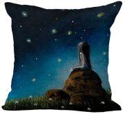 Povlak na polštář Noční obloha 45x45cm
