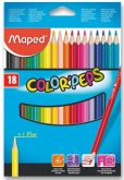 Pastelky trojhranné  Maped COLOR¨PEPS 18ks