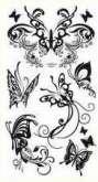 Tetovací obtisky černé  15x8,5cm