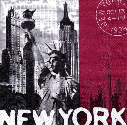 Ubrousek 33x33 NEW YORK