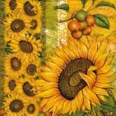 Zobrazit detail - Ubrousky 33x33 cm SLUNEČNICE