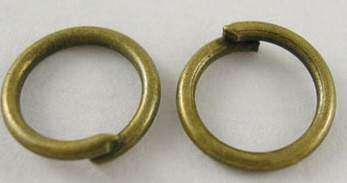 Spojovací kroužky BRONZ velikost 6 mm - 80ks