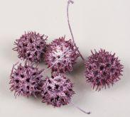 Dekorace přírodní Ambernut 3-4cm - 4ks