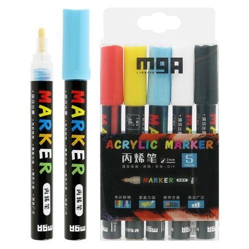 Sada akrylové popisovače / fix /M&G -5ks