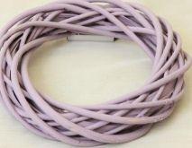 Proutěný věnec barvený pastelová lila 30cm