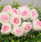 Růžovo-bílá