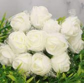 Růžičky pěnové na drátku 12ks - na svatbu i k dekoraci