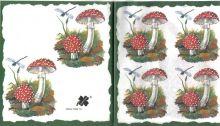 Decor papír - Muchomůrka 17 x 45 cm