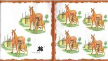 Decor papír - Kůń a hříbě 17 x 45 cm.