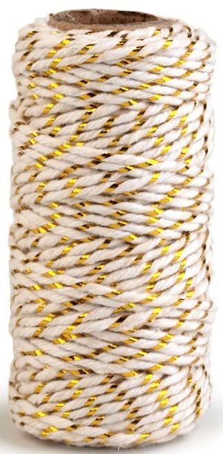 Bavlněná šňůrka s lurexem 1,5mm cca17m
