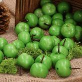 Dekorace umělá Jablíčka zelené 2,5cm - 1ks